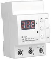 Вольтметр бытовой (индикатор напряжения) Glaz V1на DIN-рейку