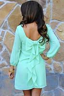 Платье короткое с бантиком