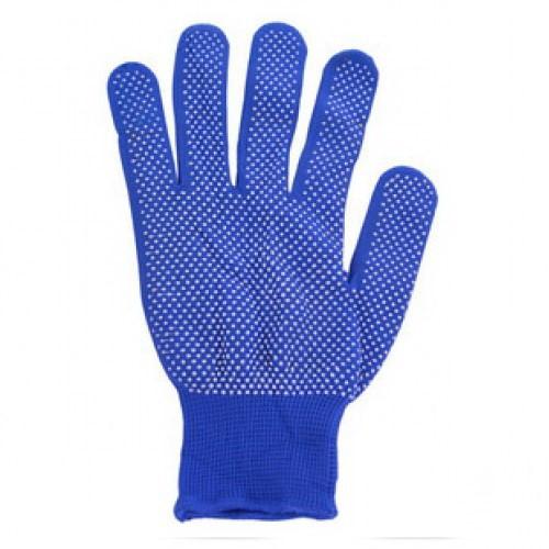Перчатки рабочие нейлоновые с микроточкой пвх покрытием