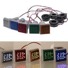 Цифровой вольтметр-амперметр AC 60-500В 0-100A