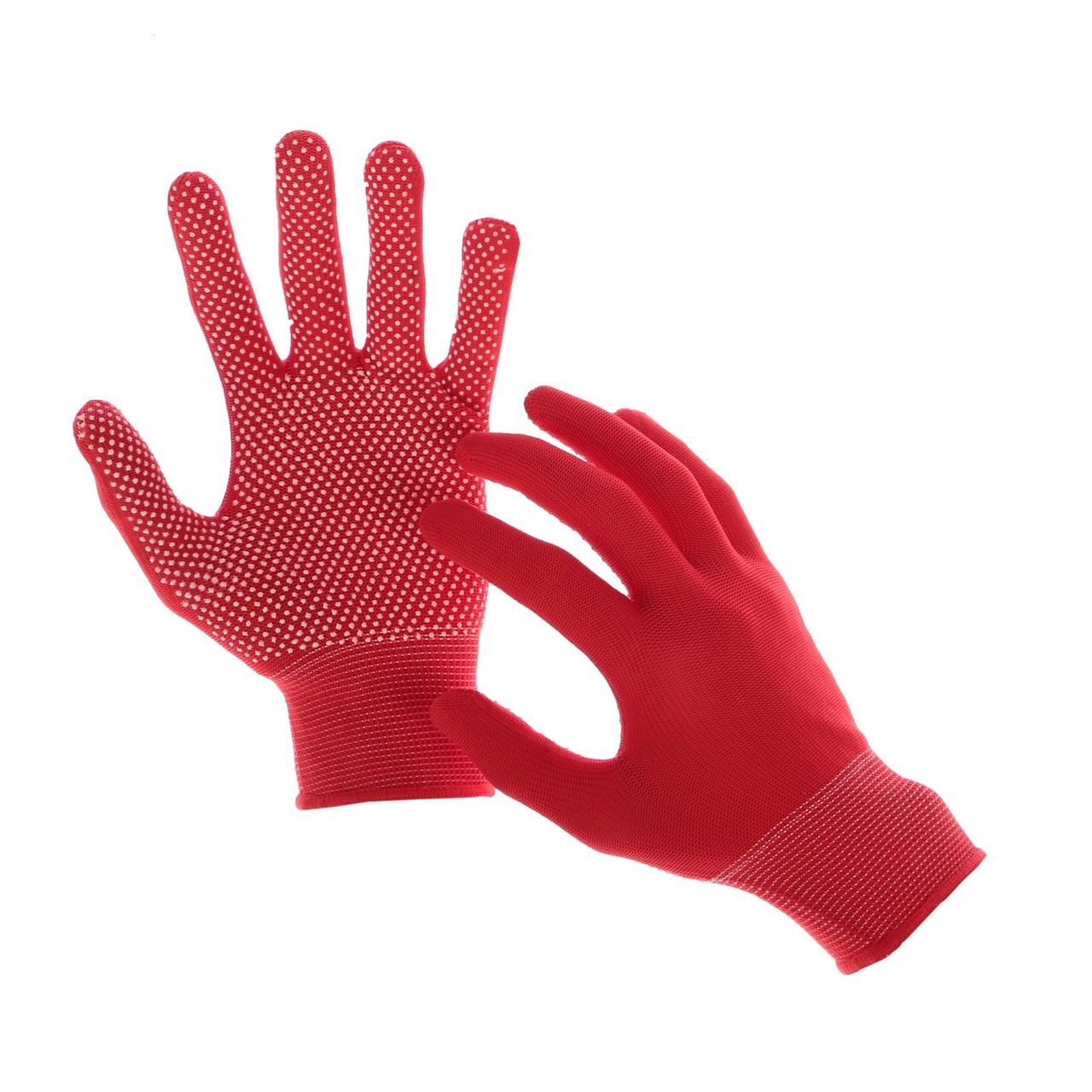 Перчатки рабочие  нейлоновые с микроточкой пвх покрытие