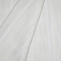 Тюль лен-рогожка сусу полоса молочный
