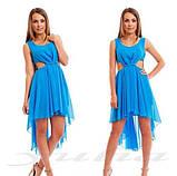 Шикарное шифоновое платье, фото 4