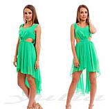 Шикарное шифоновое платье, фото 5