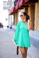 Шифоновое платье на одно плечо, фото 1