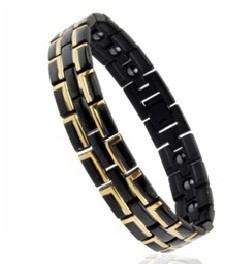 Магнитный браслет черный 4в1 - 8035 (турмалин.германий)