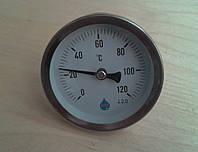 """Термометр биметаллический трубчатый AIM Ø63мм от 0 до 120°С, гильза L=60 мм (с резьбой 1/2"""")     Польша"""