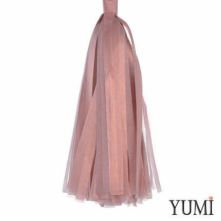 Декор: кисточка тассел розовое золото (1шт), фото 2