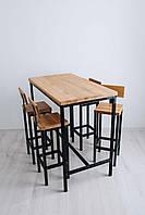 Барный комплект стол + стулья в стиле LOFT (NS-970001828)