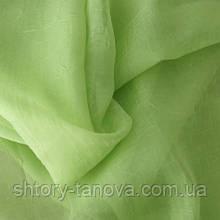 Тюль вуаль креш зеленое яблоко