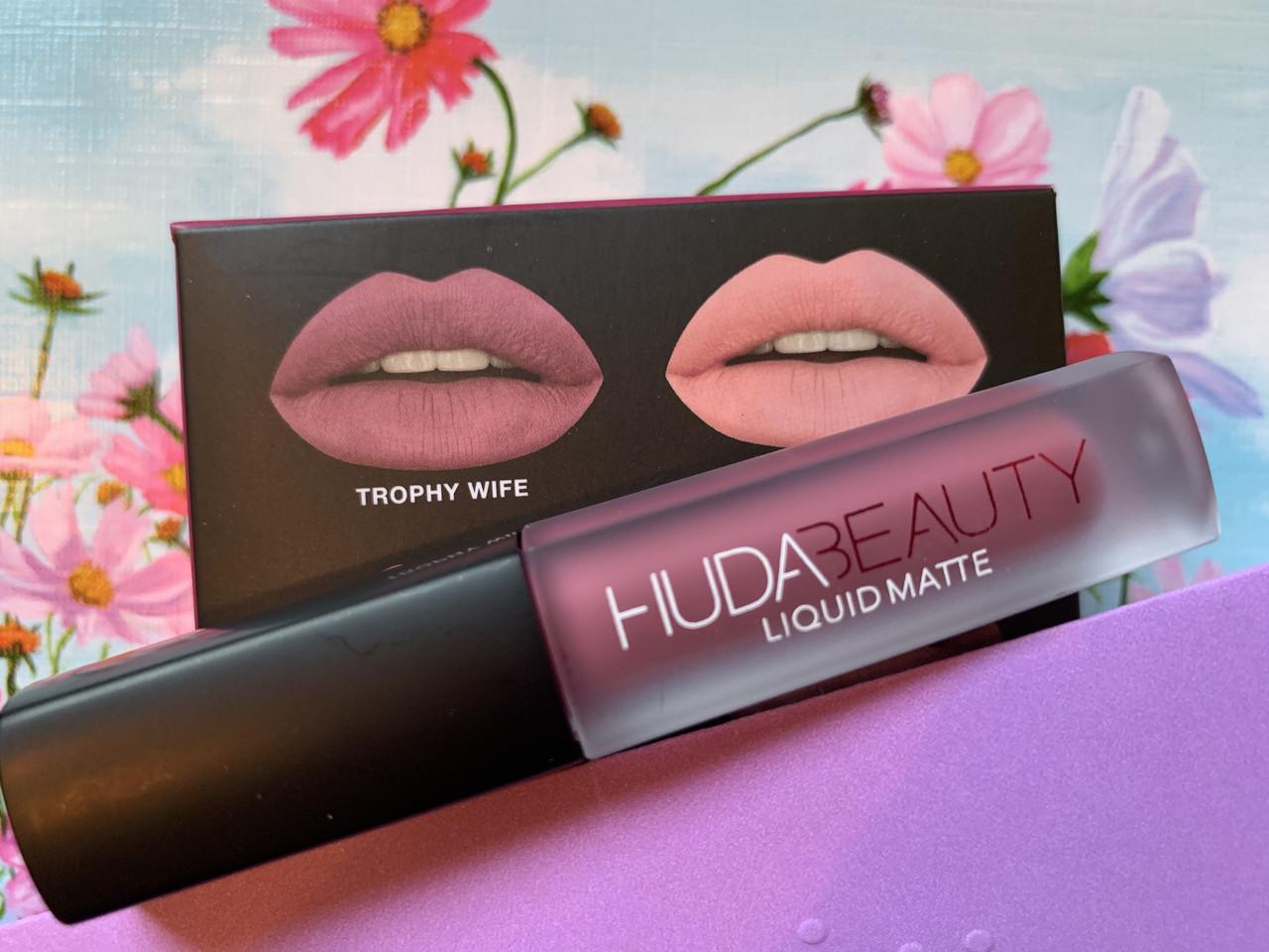 Матовая стойкая помада Huda Beauty цвет Trophy Wife