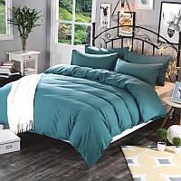 Комплект постельного белья Однотонный Аквамарин, поплин Lux, разные размеры евро