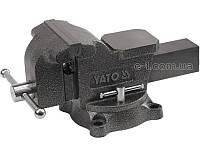 YATO yt-6502 поворотные тиски для пиления и строгания 125мм. Profi