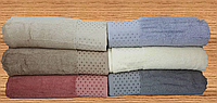 Полотенце ТМ Zeron Бамбук Точка 500г/м2 хлопок (6шт) 90*150