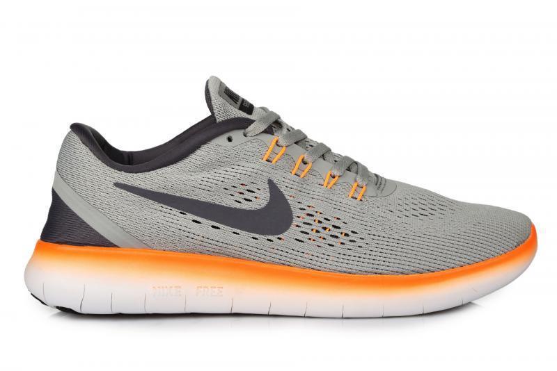 Мужские кроссовки Nike Free Run Flyknit V.1 Grey Orange размер 41 (Ua_Drop_117027-41)