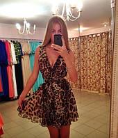 платье лео принт