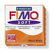 Фимо Софт Оранжевый, Мандарин №42, 56г, полимерная глина, Fimo Soft, 8020-42