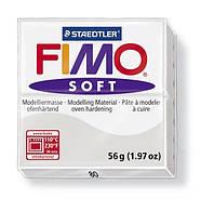 Фимо Софт Светло-Серый №80, 56г, пластика Fimo Soft, 8020-80