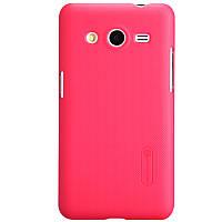 Чехол Nillkin для Samsung G355H Galaxy Core 2 красный (+пленка)