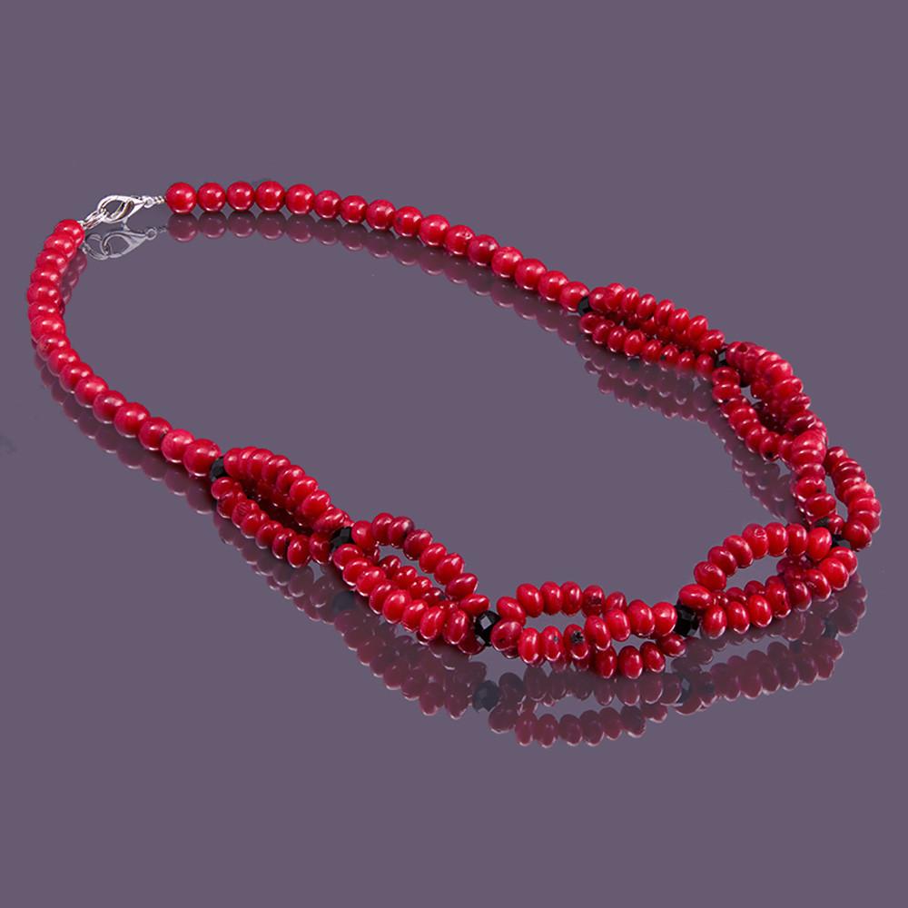 Бусы sherl Коралл 45 см Красный (бс-крл-298)