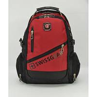 Городской рюкзак мужской SwissGear 7695 Черно-красный (55134im5)