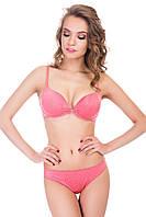 Комплект белья: бюстгальтер push up и трусики бразилиана Lormar 80B/L Розовый (45269)