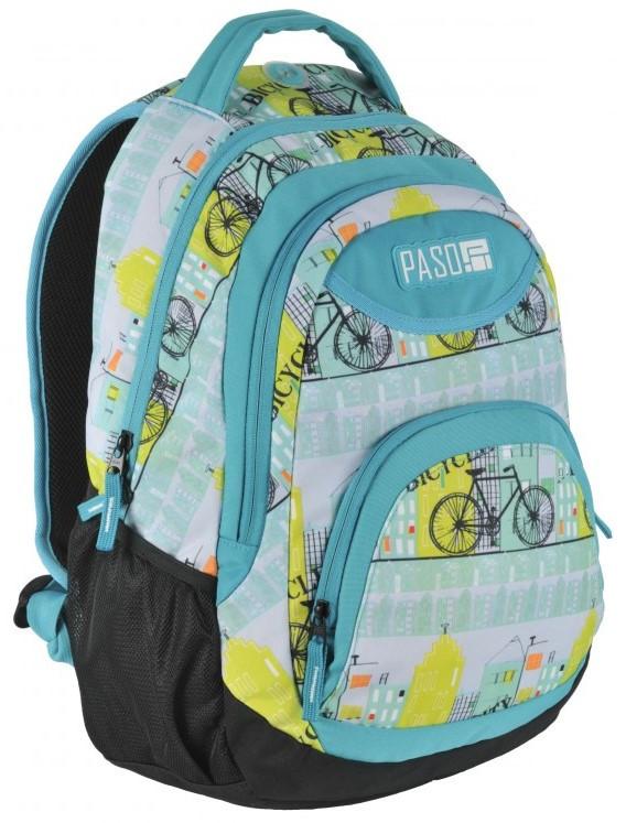 Молодежный рюкзак Paso 22 л Разноцветный (17-2708UF)