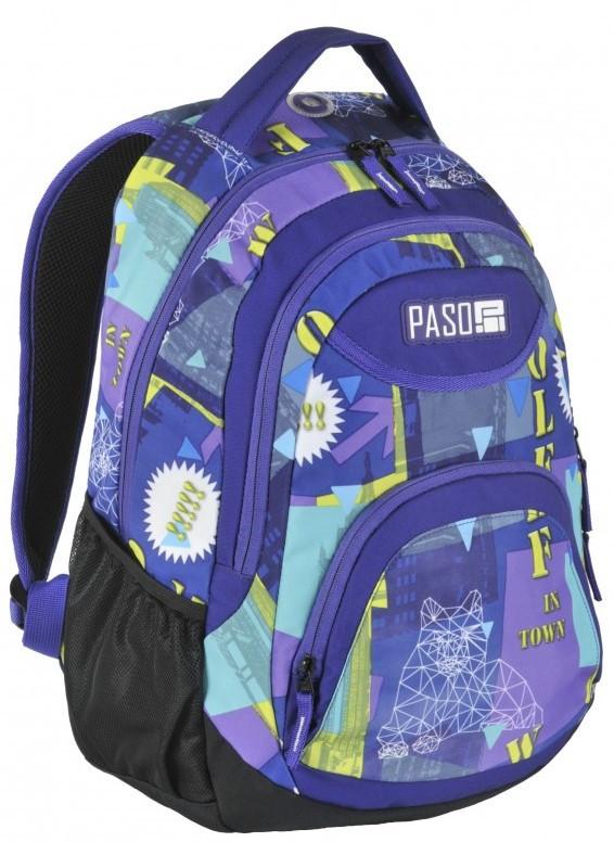 Рюкзак молодежный Paso 22 л Разноцветный (17-2708UE)