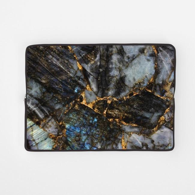 Чехол для ноутбука 14 - 14.1 дюймов РишаМясов Темный мрамор (che-0352)