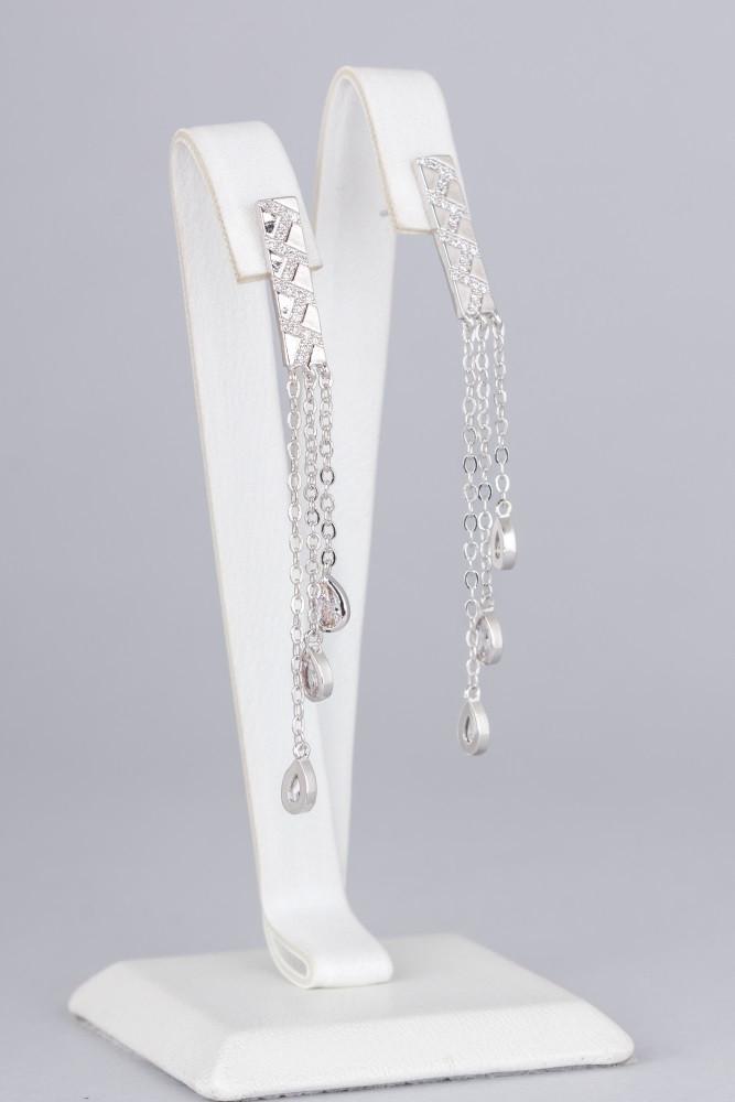 Ювелирные серьги с подвесками Цепочки (15310)
