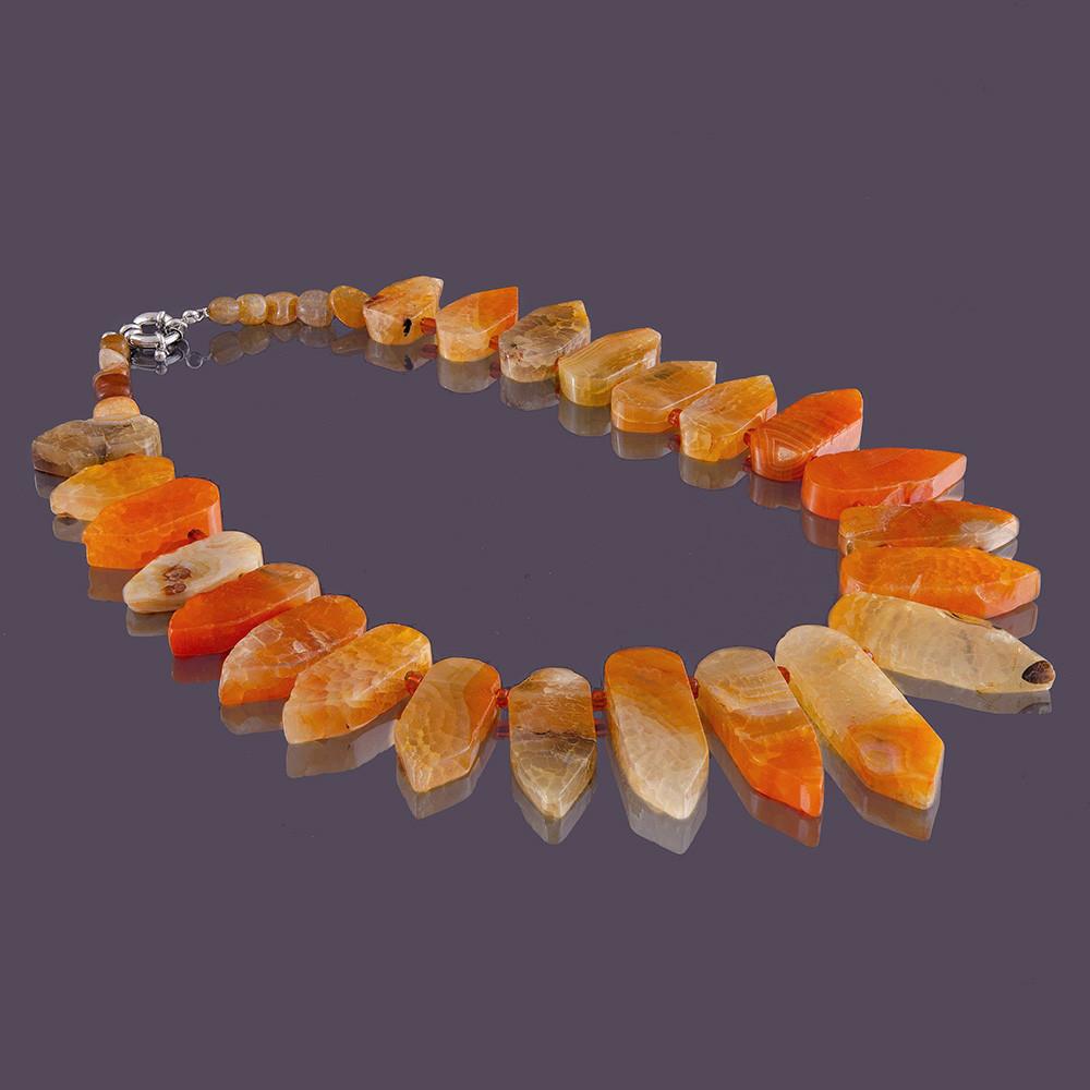 Бусы sherl Агат 50 см Оранжевый (бс-аг-704)