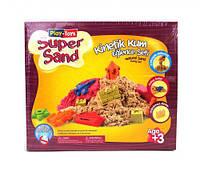 Кинетический песок Play-Toys Super Sand с песочницей (TOY-54002)