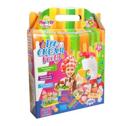 Большой набор для лепки Strateg Мистер Тесто: Ice cream party (TOY-57504)