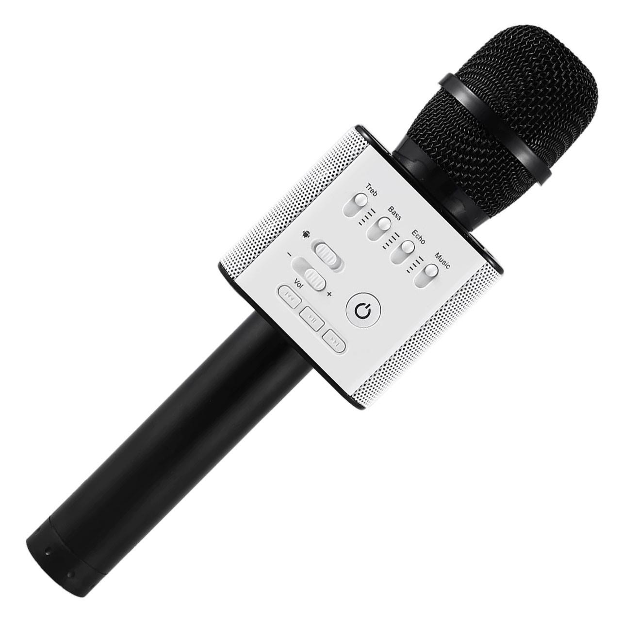 Беспроводной портативный микрофон Micgeek Q9 для караоке Bluetooth c чехлом Black (1354-9594а)