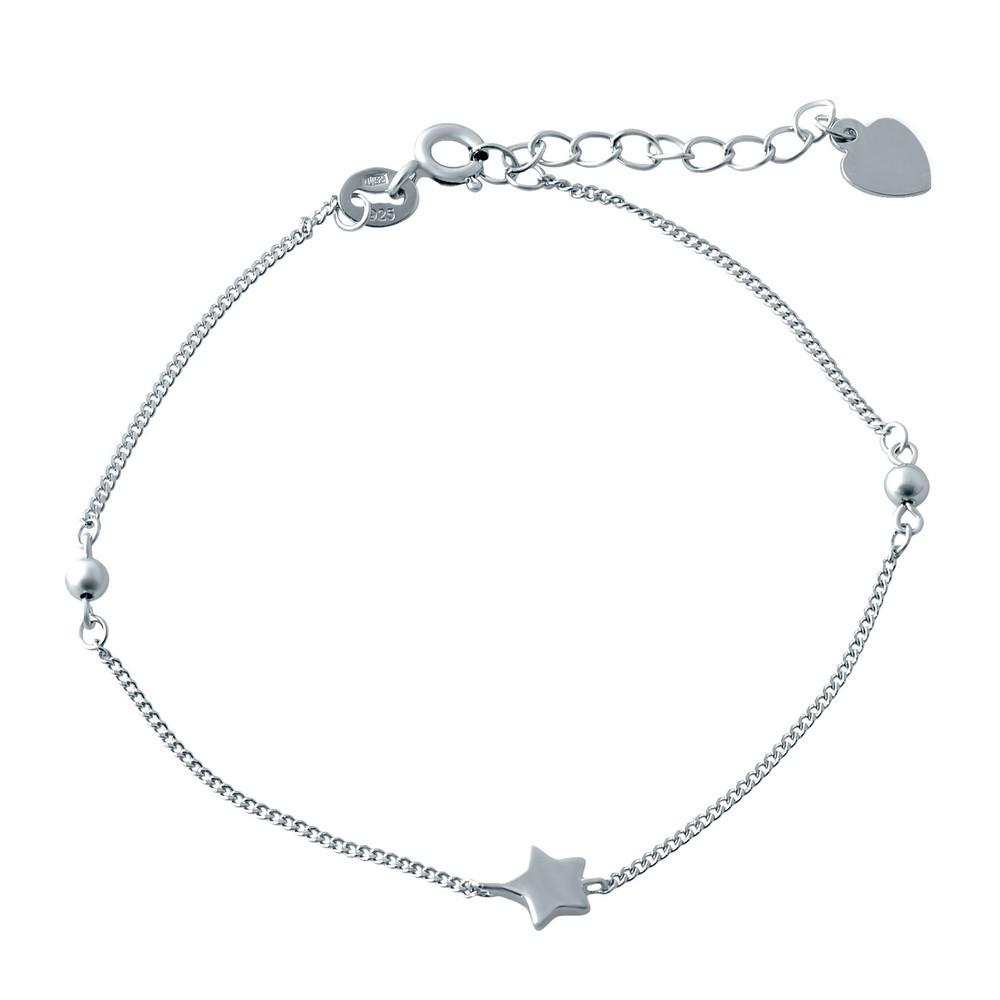 Серебряный браслет SilverBreeze без камней 17-20 см (1994122)