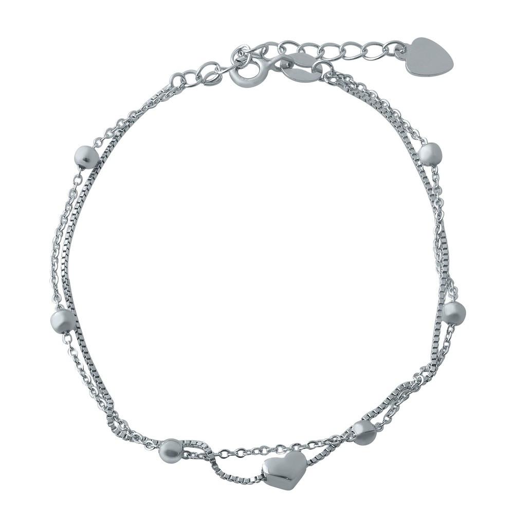 Серебряный браслет SilverBreeze без камней 17-20 см (1994153)