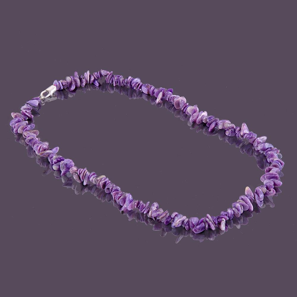 Бусы sherl Чароит 50 см Фиолетовый (бс-чрт-046)