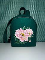 Женский рюкзак Alpaca Pink flower Зеленый (ALP022)