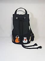 Женский рюкзак Alpaca Lazy cats Black, фото 1