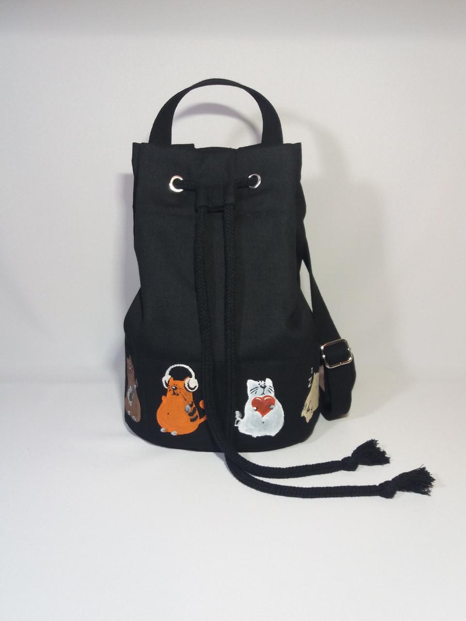 Женский рюкзак Alpaca Lazy cats Black