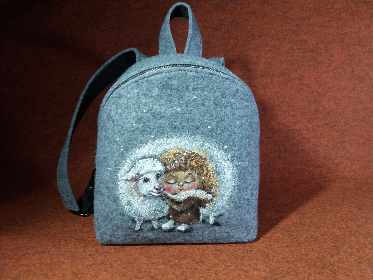 Женский рюкзак Alpaca Friend-sheep Серый (ALP0190