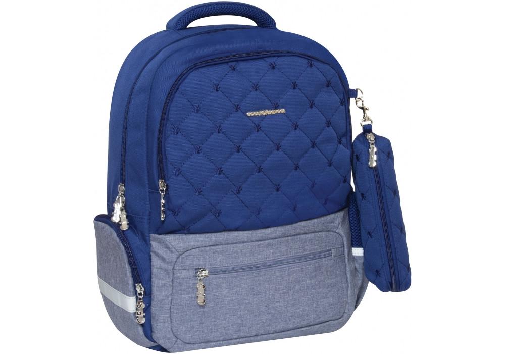Рюкзак школьный Cool for school Quilt 400 16 Синий (CF86562-01)