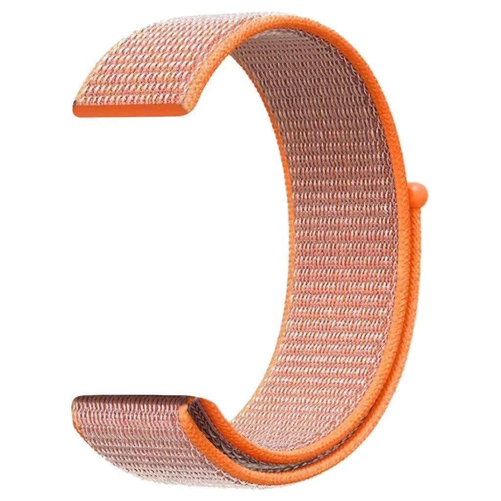 Ремешок BeWatch нейлоновый липучка для Samsung Galaxy Watch 42 мм Оранжевый (1011307)