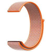 Ремешок BeWatch нейлоновый липучка для Samsung Galaxy Watch 42 мм Оранжевый (1011307), фото 1