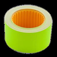 Ценник 30*20мм (300шт, 6м), прямоугольный, внешняя намотка, желтый bm.282104-08