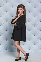 """Красивое детское платье черное для школы """"Deborah"""" - рост 122, 128, 134, 140, 146, 152"""