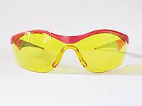 Очки защитные открытого типа, желтые, ударопрочная линза ЗУБР «МАСТЕР».