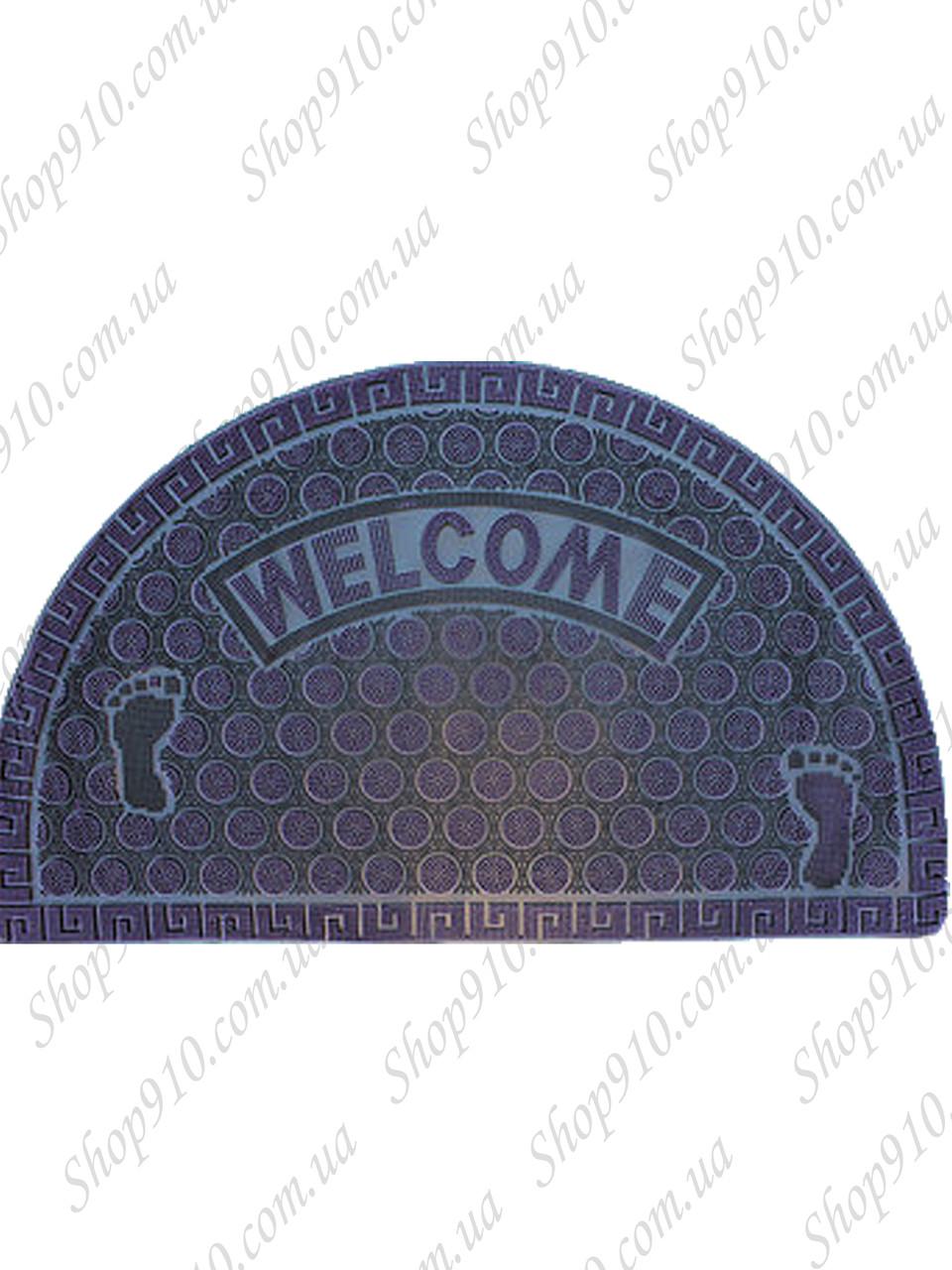 """Резиновый коврик """"Welcome"""" 45х75 овальный (розовый) Floor Mats Line"""