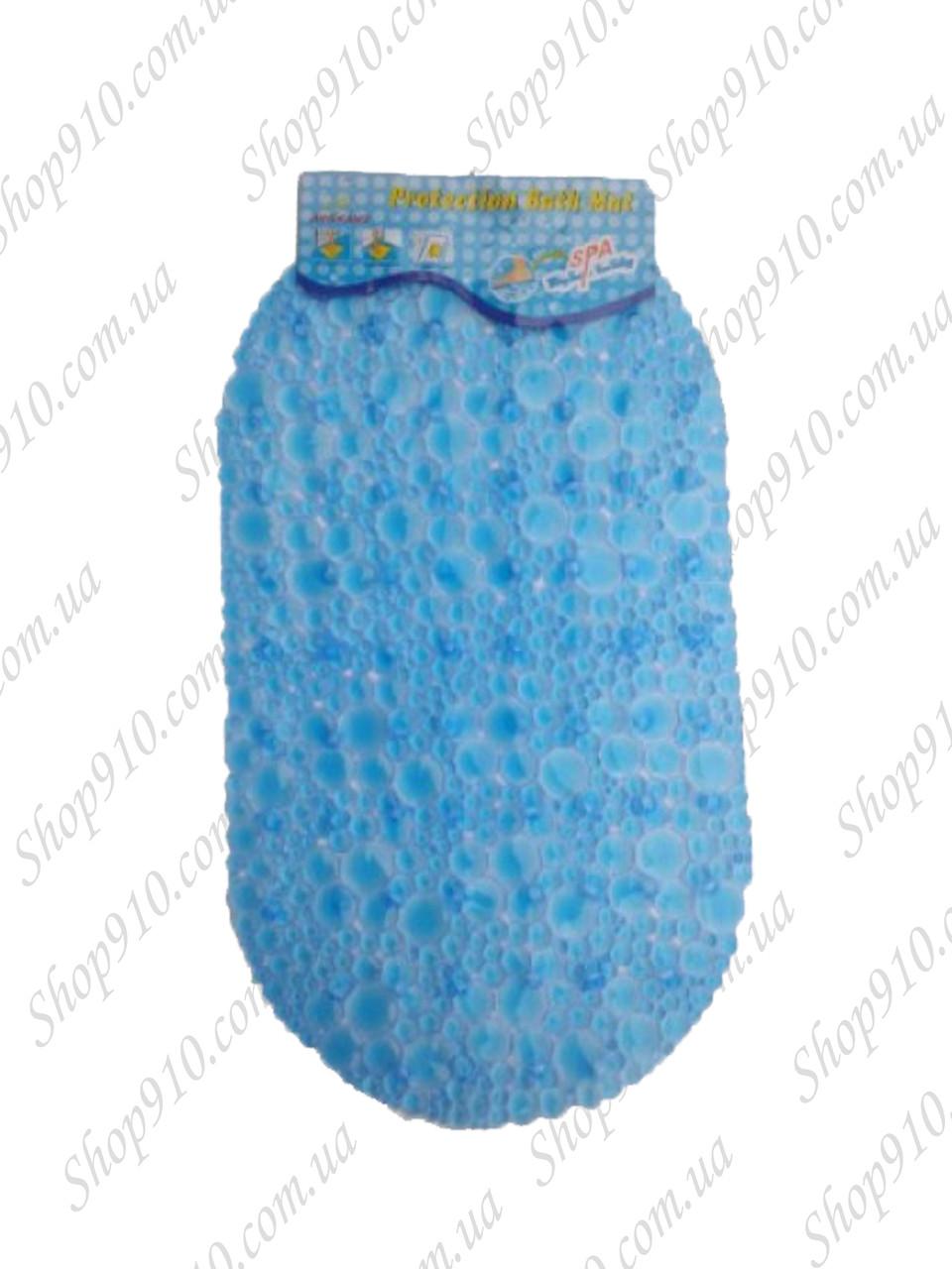 Силиконовый коврик в ванную 3-2-6 (синий)