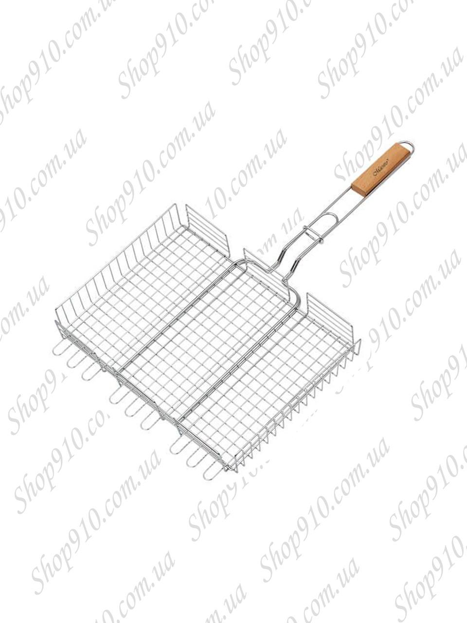 Решетка-гриль для мангала и барбекю (глубокая,большая)